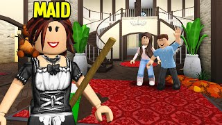 I Worked As A MAID.. What I Found In This Mansion Will SCARE You! (Roblox Bloxburg)