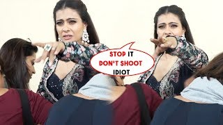 Kajol Gets Angry On Photographer Like Never Before For Taking Video While FIXING Her Dress
