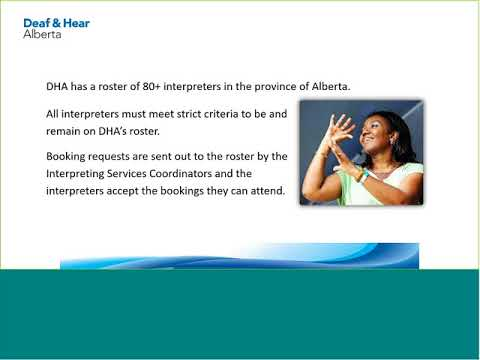 Services the Deaf and Hear Alberta Provide (DHH) with Kathy Harrison