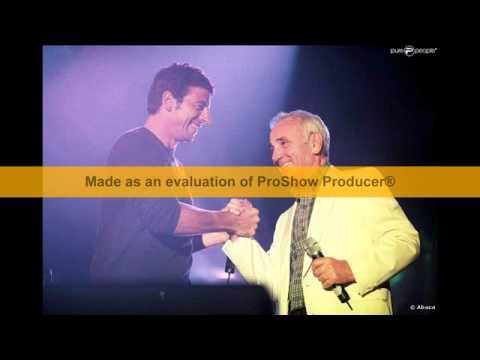 Menilmontant Patrick Bruel avec Charles Aznavour.avi
