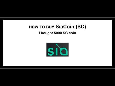 Sia Coin, Sc Coin, How To Buy Siacoin Coin, Sia Token
