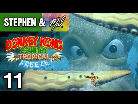 """DKC: Tropical Freeze #11 - """"Octopus Onslaught"""" (4-A, 4-3, 4-4)"""