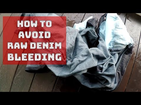 How To Avoid Raw Denim Bleeding and Stains
