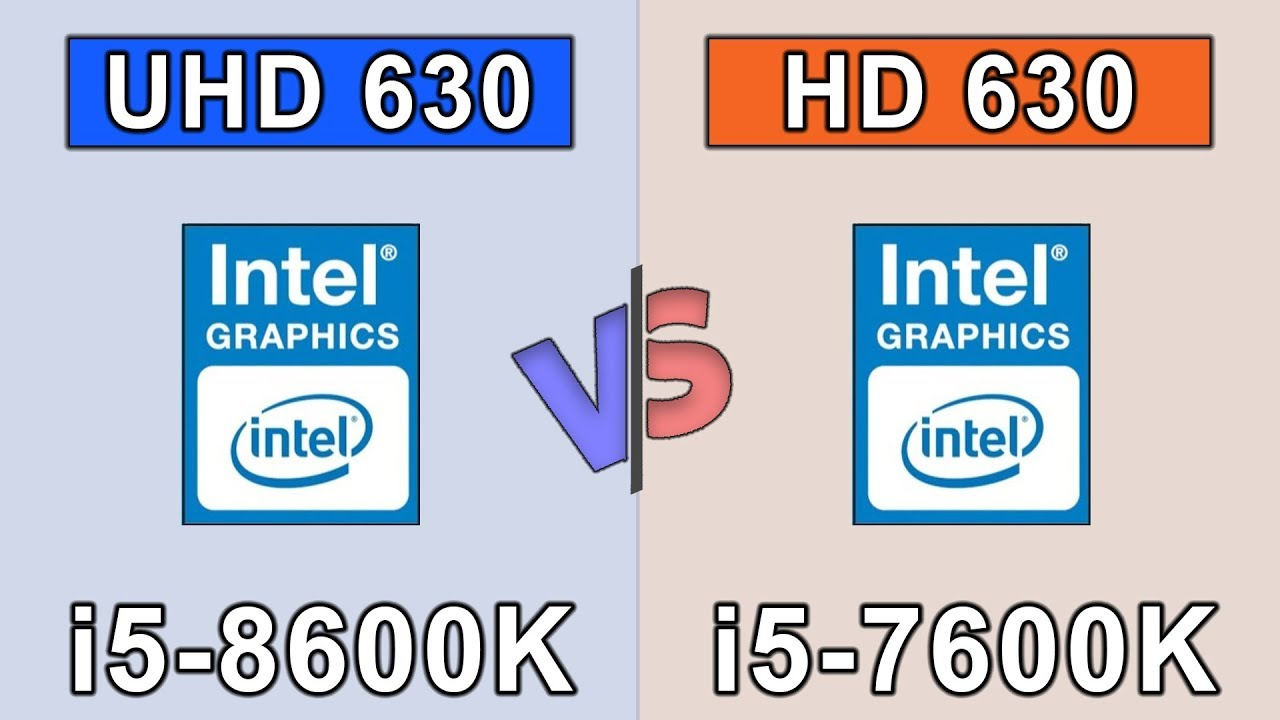 carte graphique intel® hd 630 Intel UHD 630 vs Intel HD 630 | Coffee Lake | 20 Games Benchmark