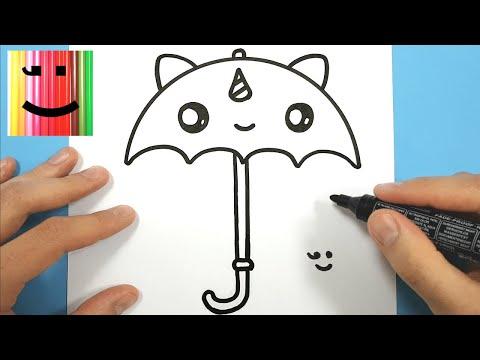 Comment Dessiner Un Parapluie Licorne Kawaii
