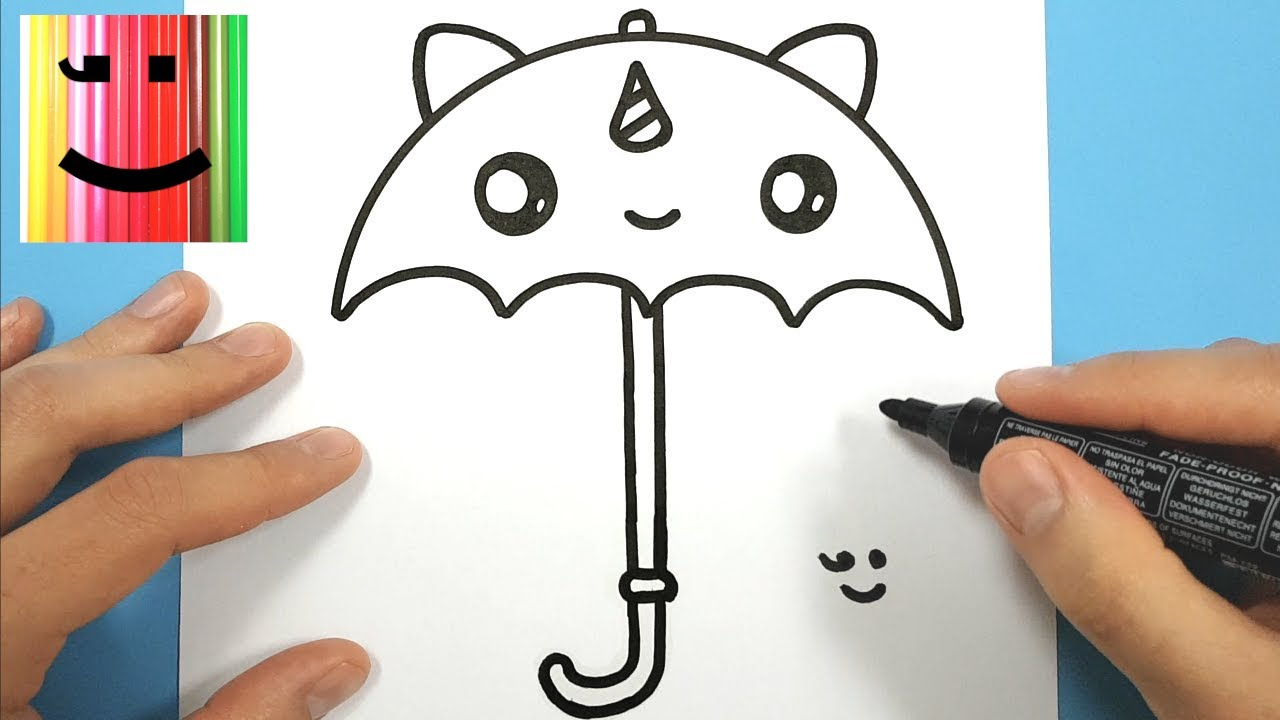 How To Draw A Cute Unicorn Umbrella