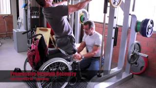 paralyzed body builder kris dim ifbb pro walking squatting and leg pressing for the 1st time