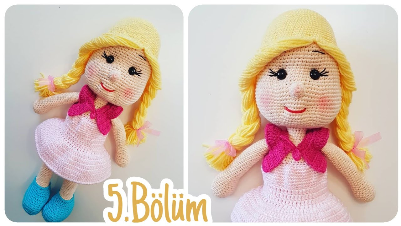 Amigurumi Bebekte Saç Yapımı : Amigurumi kız bebek yapımı bölüm bebek saç peruk yapılışı