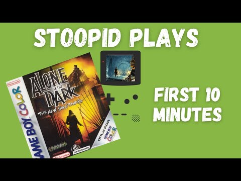 Stoopid Plays: Alone in the Dark: The New Nightmare for Game Boy Color - First 10 Minutes |