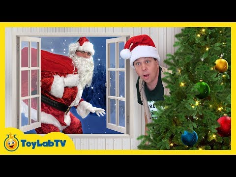 Download Youtube: Dinosaur Christmas Story! LB Meets Santa Claus in Fun Family Video for Kids with Nerf Toy