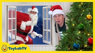 connectYoutube - Dinosaur Christmas Story! LB Meets Santa Claus in Fun Family Video for Kids with Nerf Toy