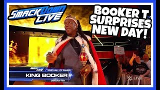 KING BOOKER SURPRISES THE NEW DAY Reaction | WWE Smackdown Live 8/28/18