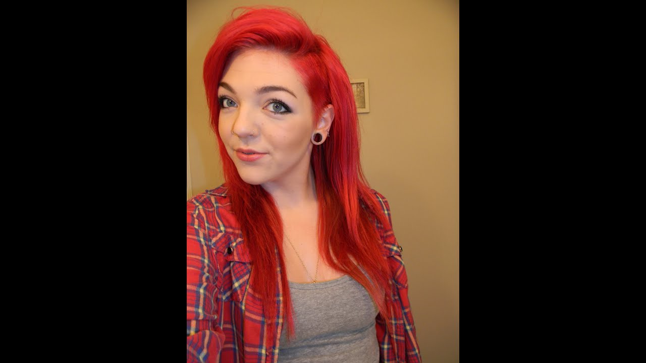 maintaining bright red hair manic