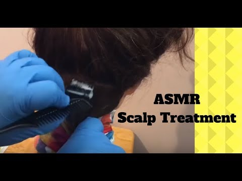 ASMR Relaxing Scalp check/treatment - Lice check on mannequin head/head massage (no talking)