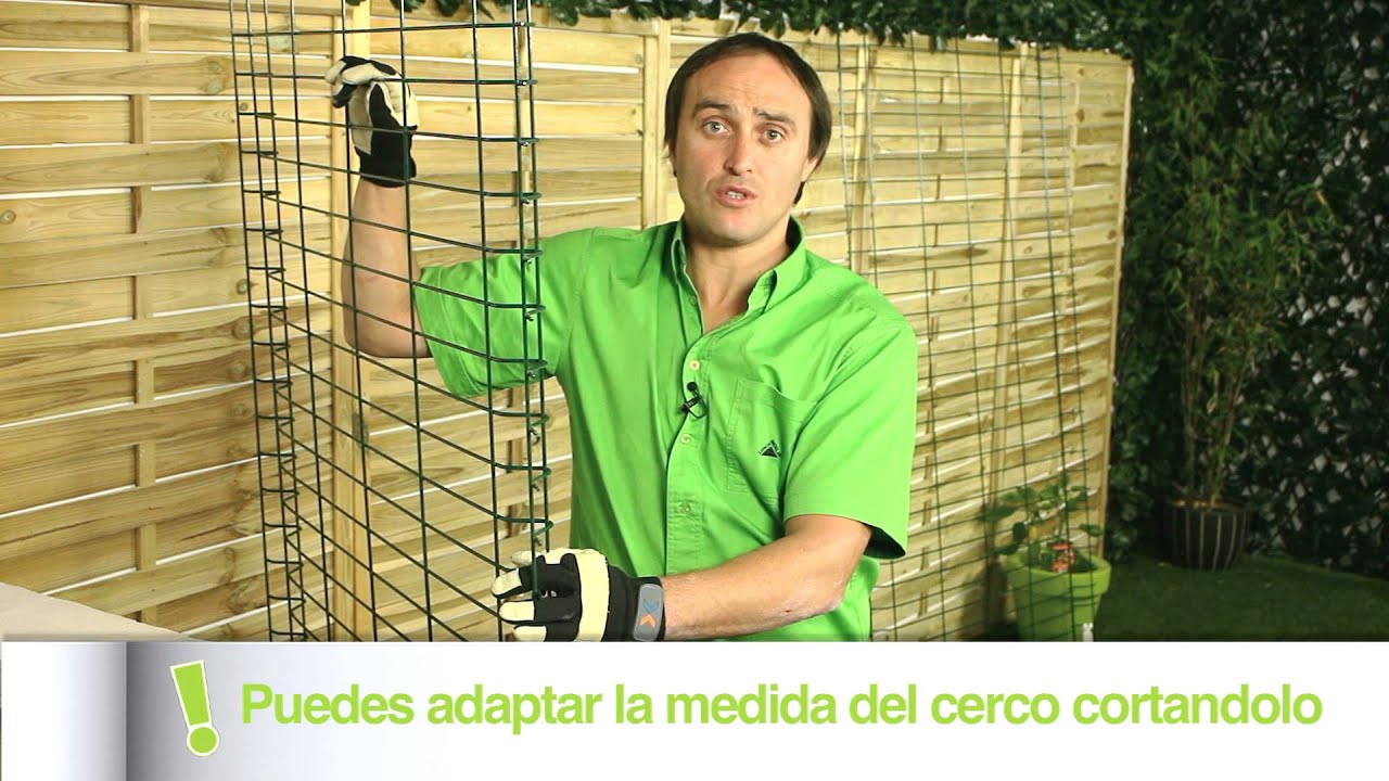 C mo colocar un cercado met lico leroy merlin youtube for Coprigradini leroy merlin