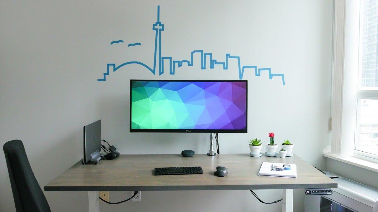 DIY Dream Desk Setup 2.0   Minimal Ergonomic Clean