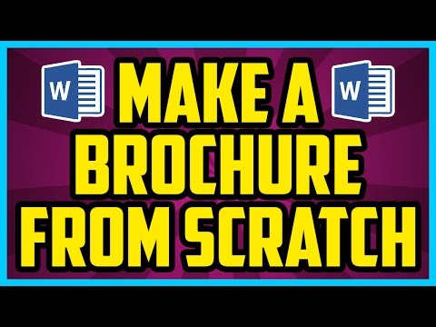 How To Make A Brochure FROM SCRATCH In Word 2013. Microsoft Word Brochure 2013 / 2010 / 2007