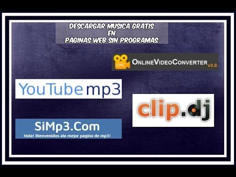 PAGINAS WEB PARA DESCARGAR MUSICA GRATIS