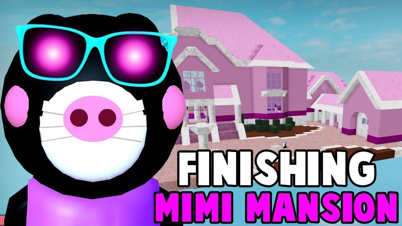 PIGGY - Building MIMI's MANSION! - Part Three (Roblox Piggy Build Mode!)