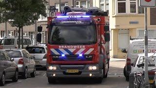 Brandweer Mijnsherenlaan 17-3431 met spoed naar een gaslucht in Rotterdam
