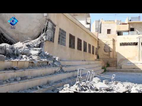 Schools in Darat Izza, Aleppo destroyed after regime attacks and airstrikes on the town