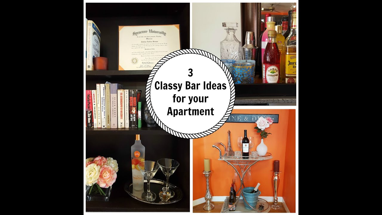3 Classy Mini Bar Ideas For Your Apartment   YouTube