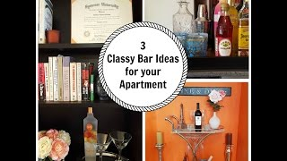 3 Classy Mini Bar Ideas for your Apartment