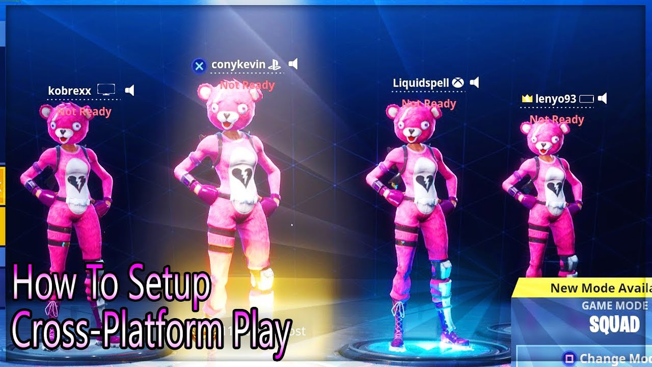 Fortnite - How To Cross Platform Play With Pc, Xbox One, PS4