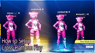 Fortnite - How To Cross Platform Play With Pc, Xbox One, PS4! Play With All Consoles Now!