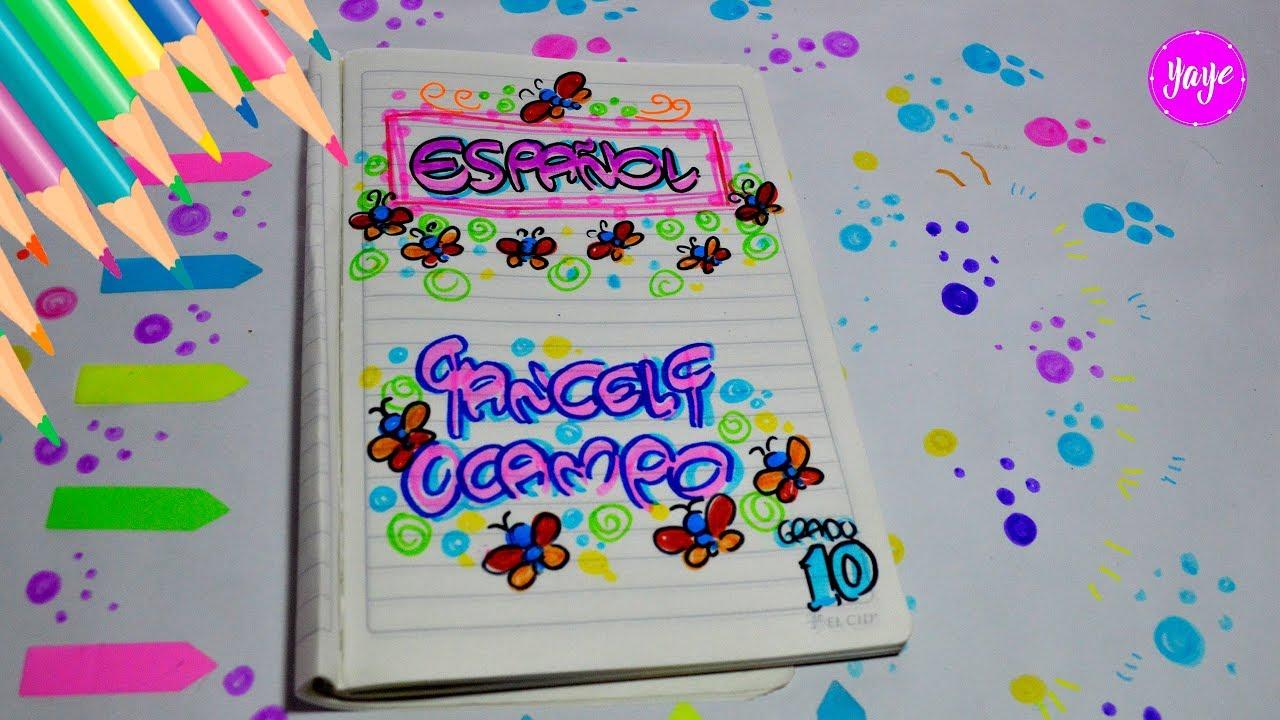 Ideas Para Marcar Cuadernos Cómo Dibujar Portada De Español Yaye