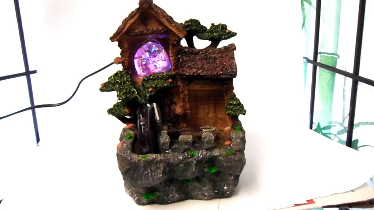 indoor feng shui chinese oriental japanese lucky bonsai electric water fountain youtube