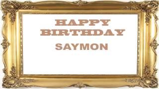 Saymon   Birthday Postcards & Postales