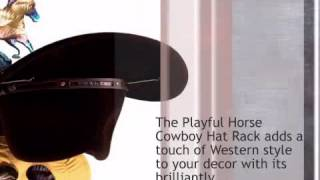 Playful Horse Cowboy Hat Rack - Single - lonestarwesterndecor.com