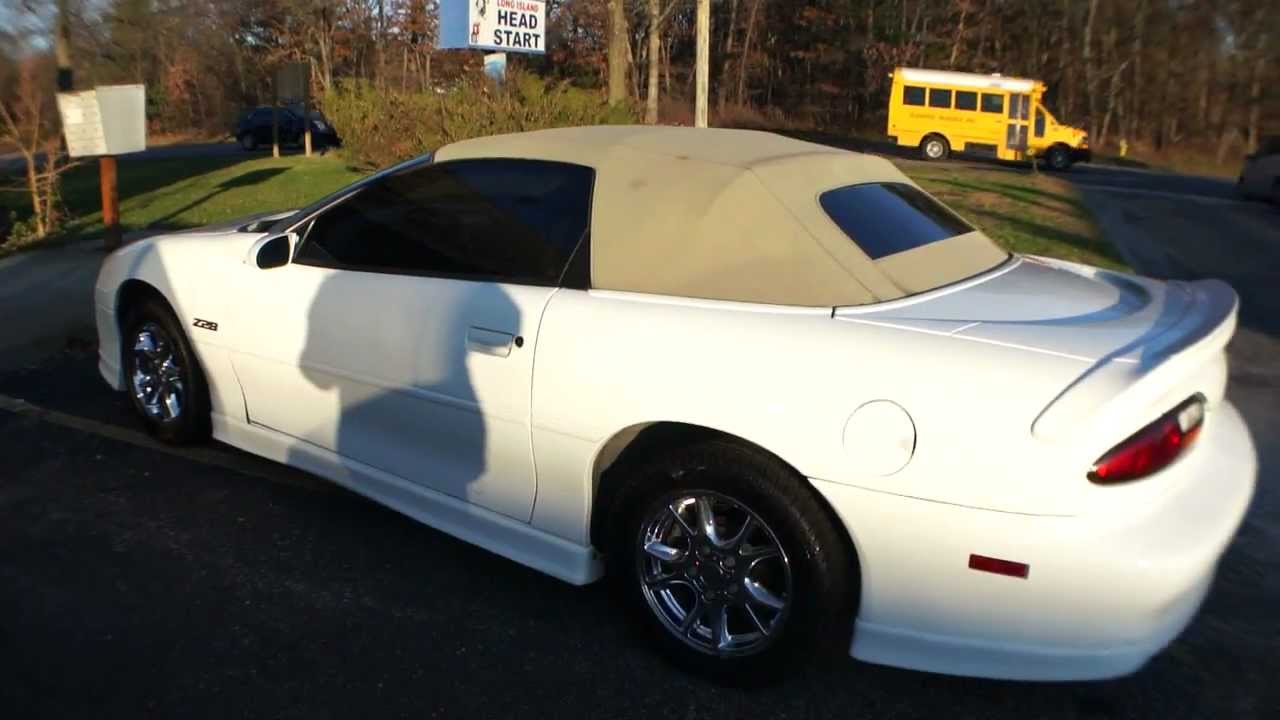 2002 Chevrolet Camaro Z28 Convertible 6 Sd Manual Limited Ed 35th Anniversary Edition For