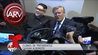 Clones de Donald Trump y Kim Jong-Un causan revuelo | Al Rojo Vivo | Telemundo