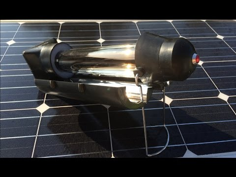SunRocket Solar Kettle - Hot Water for free only with Sun Energy - Review and Test
