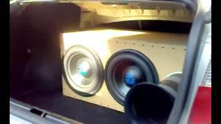 2xsubwoofer DLD Acoustic,SPL box and big port in Seat Toledo 1M