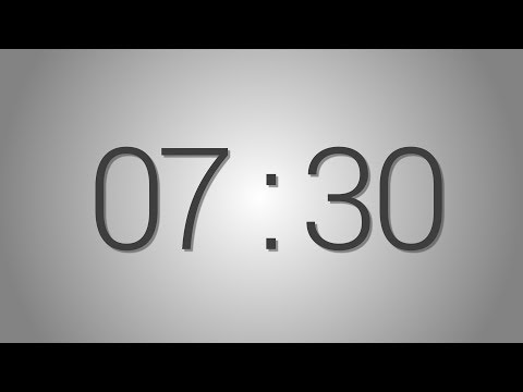 7 Minutes 30 seconds countdown Timer - Beep at the end | Simple Timer (seven min thirty sec)