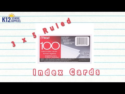 Best Note Cards - 3x5 Index Cards - Note Cards