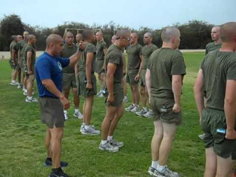 Marine Recruits Exercising