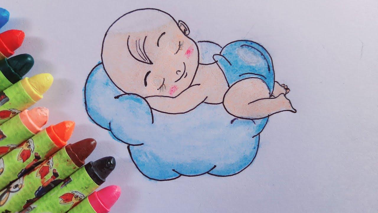 Cute Baby drawing using Ring & Bangle || Boy baby drawing ...