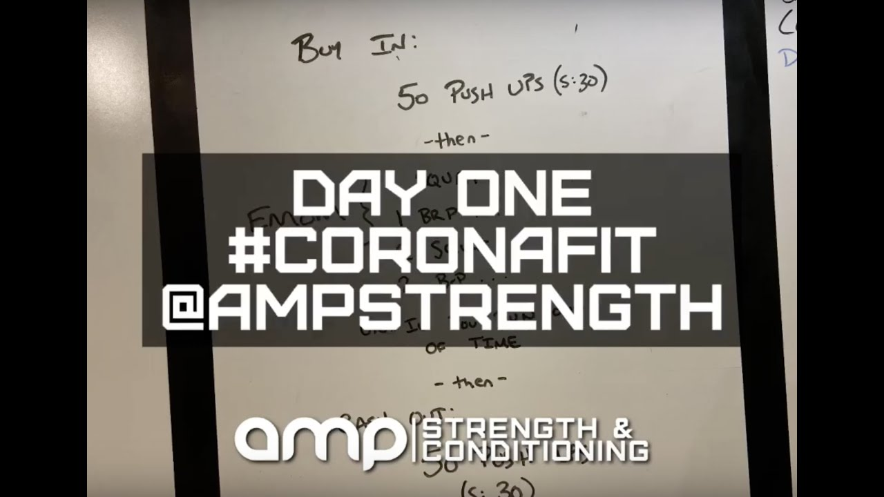 AMP Day One - At Home Workout