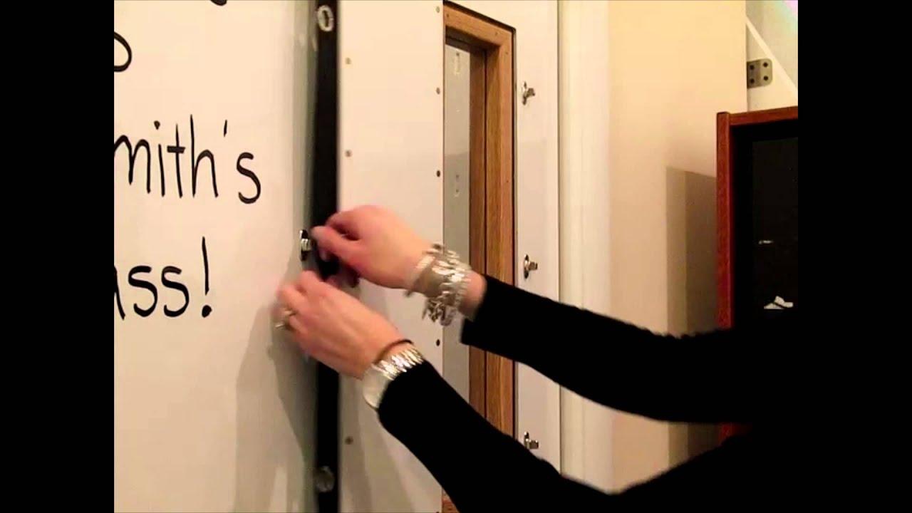 Peel-n-Stick Bulletproof Door & Peel-n-Stick Bulletproof Door - YouTube