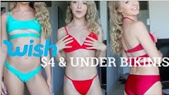 Trying on the CHEAPEST BIKINIS from the Wish App! ~ FREE BIKINIS?!