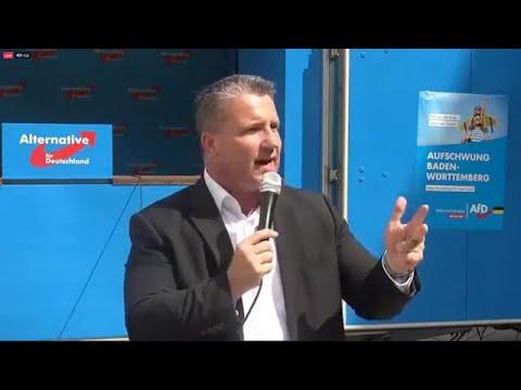 """Wahlkampf. """"Es wird hier gegen die Polizei und der Bundeswehr gehetzt."""" Martin Hess, AfD 24.07.2020"""
