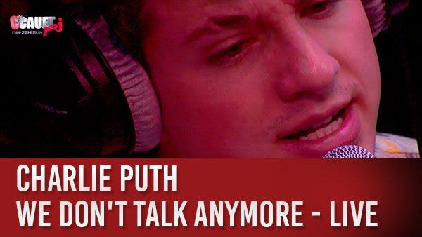 Download Charlie Puth - We Don't Talk Anymore - Live - C'Cauet sur NRJ