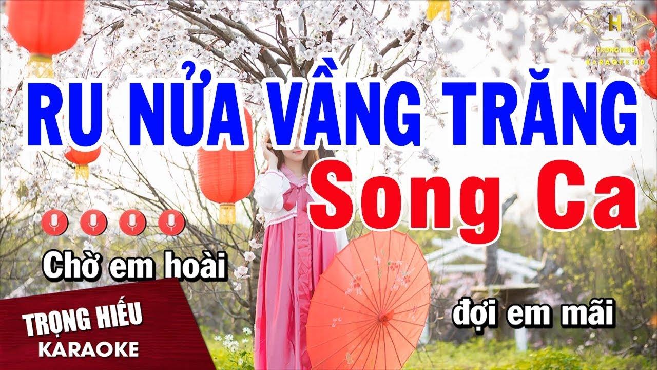 Karaoke Ru Nửa Vầng Trăng Song Ca Nhạc Sống | Trọng Hiếu