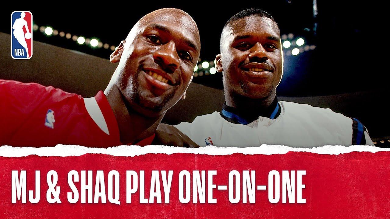 baaac5f74b89dd Michael Jordan Plays One-on-One with Shaq - YouTube