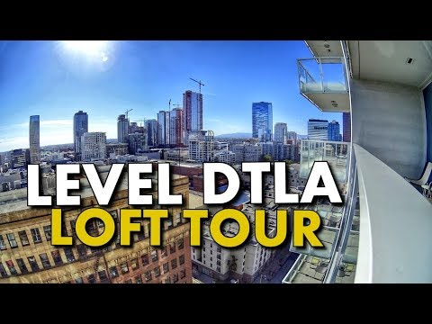 DTLA LUXURY BOUTIQUE HOTEL LOFT TOUR - LEVEL Furnished Livin