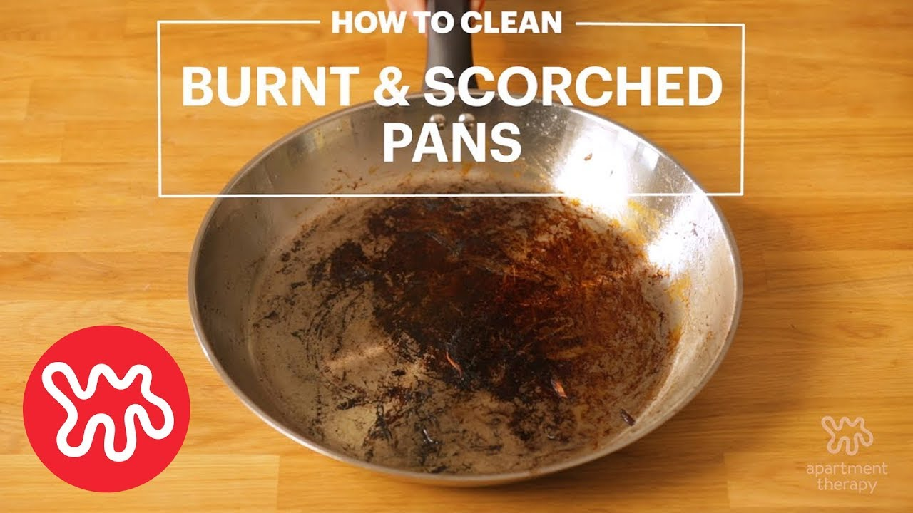 How to clean burnt jam from the pan 34